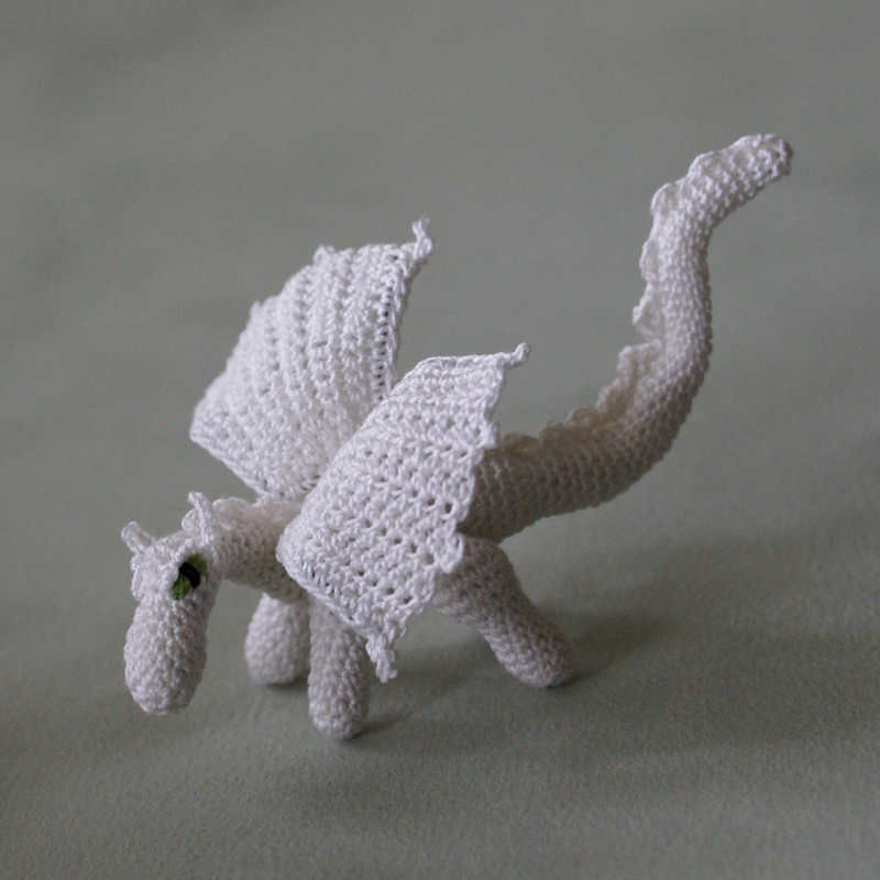 Crochet dragon by Annies Granny Design - design by Lucy Ravenscar
