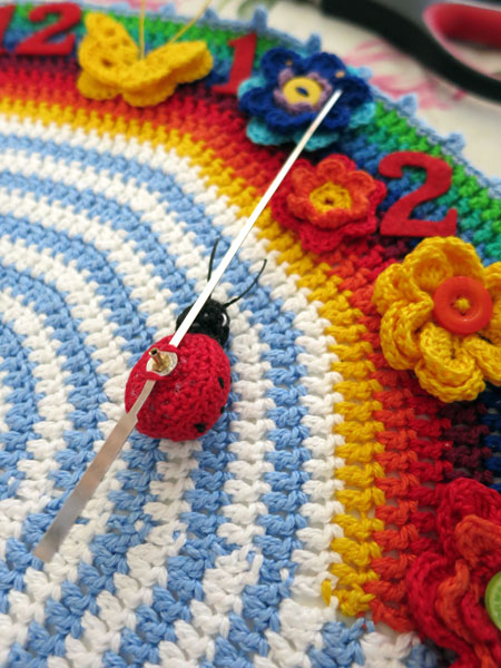 Crochet-clock-ladybug-back