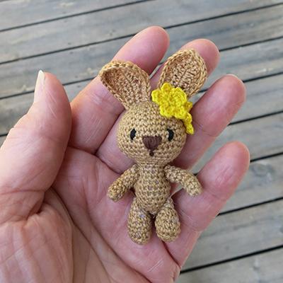 crochet bunny virkad kanin