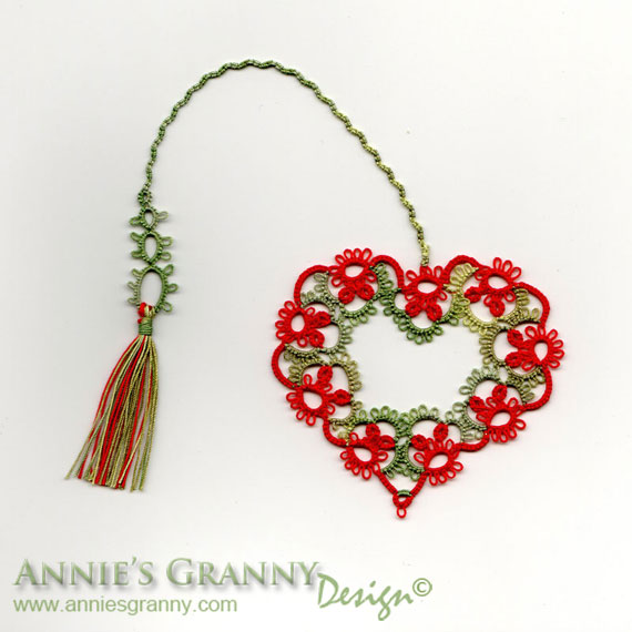 Tatted bookmark by Annie's Granny - No 027