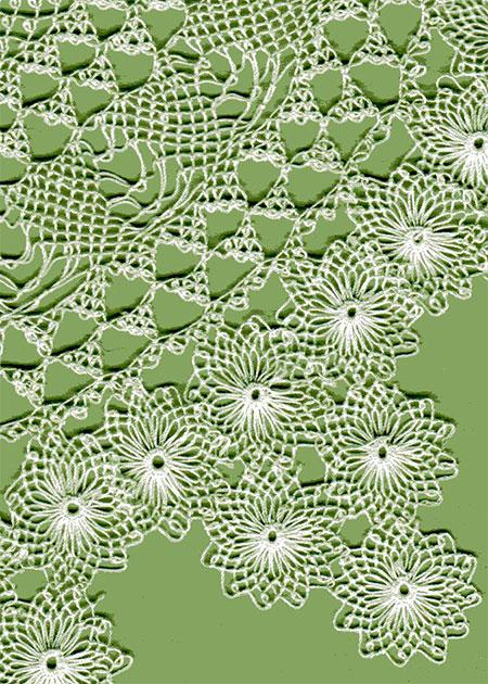 Oya lace doily