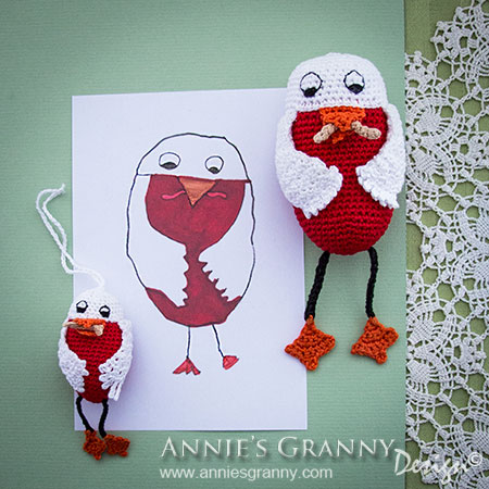 Crochet Child Drawing - owls - by Annie's Granny Design