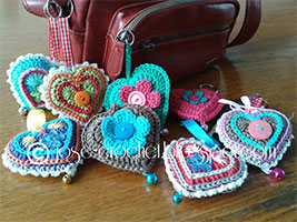 Crochet hearts from Jose Crochet