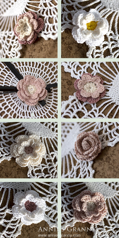 Crochet clock flowers by Annie's Granny Design
