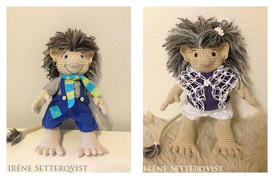 Virkat troll av Irene Setterqvist - design Anita Schaeder