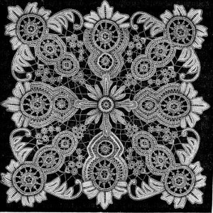 Antique lace pattern