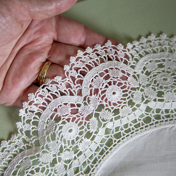 Crochet doily in unusual technique