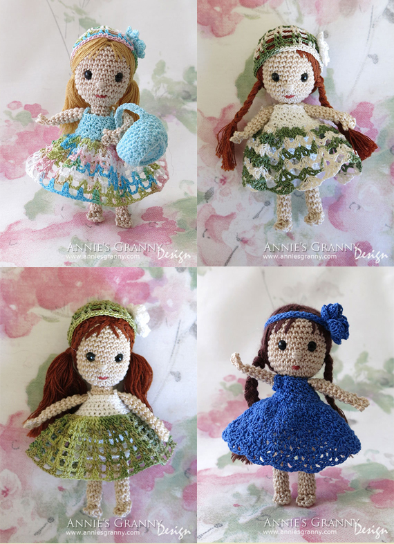 Crochet dolls by Annie's Grannny