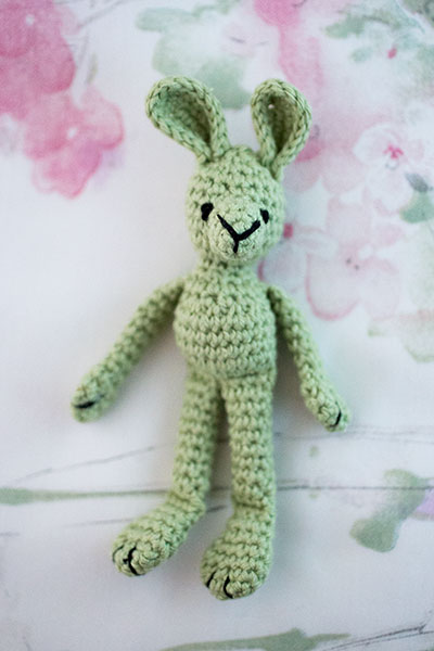 Green crochet bunny by Annie's Granny Design - Free pattern