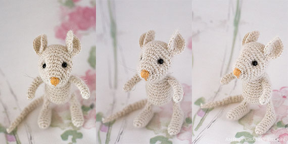 White mouse by Annie's Granny - Pattern by Pysselboa