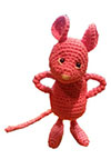 Tiny Pink Forest Mouse - pattern by Irene Holmgren