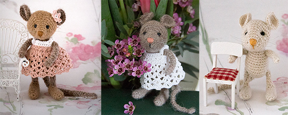 Crochet Forest mice - pattern by Irene Holmgren