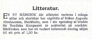 Märkbok av Augusta Abrahamsson - Idun 1910-03-27