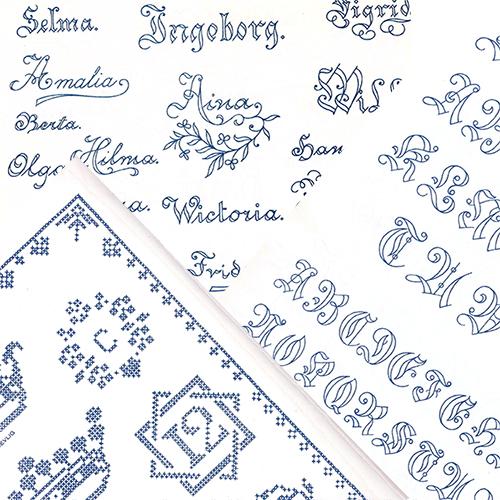 Märkbok av Augusta Abrahamsson - innehåll