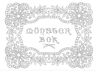Mönsterbok av Augusta Abrahamsson