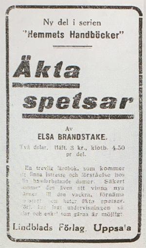 Annons - DN 1925-10-17 Äkta-spetsar-annons