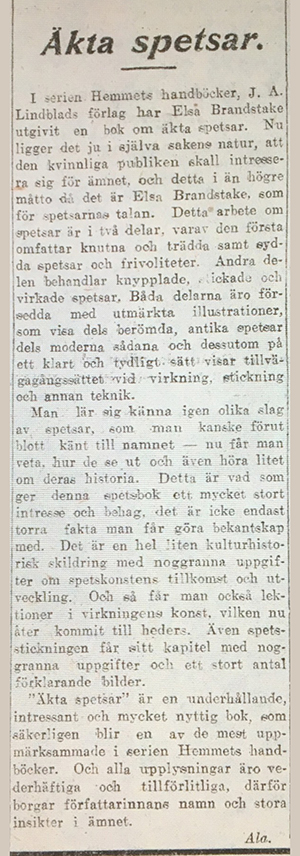 Artikel - Aftonbladet 1925-11-17 Äkta-spetsar