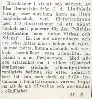 Artikel - DN 1924-06-01 Barnkläder-i-stickat-och-virkat-artikel