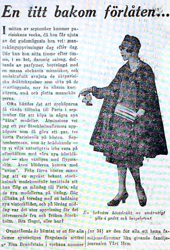 Artikel av Elsa Brandstake - DN 1926-08-21 En titt bakom förlåten
